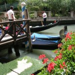 "Гондоли в близост до галерия ""Академия"" във Венеция"