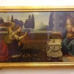 """Галерия """"Уфици"""" – Леонардо да Винчи – """"Благовещение"""""""