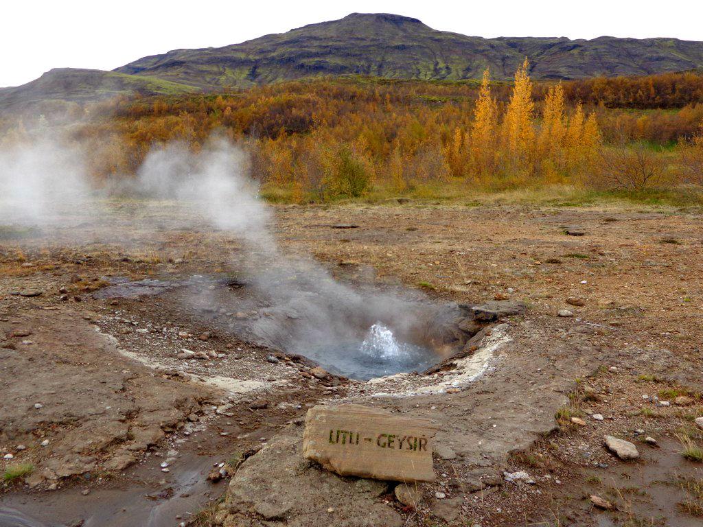 Геотермална дейност в долината Хаукадалур