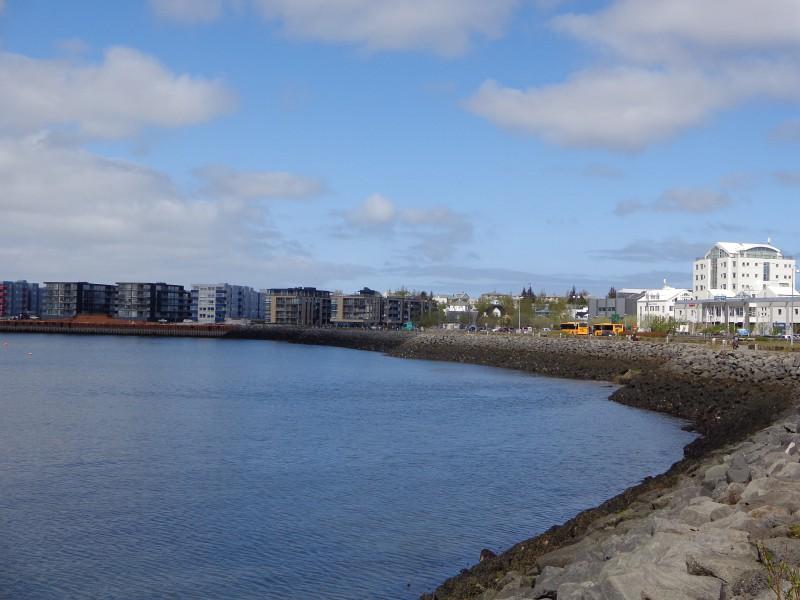 Хапнарфьордур, изглед от крайбрежната алея