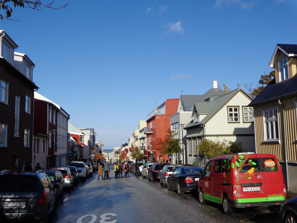 Една от главните улици на Рейкявик