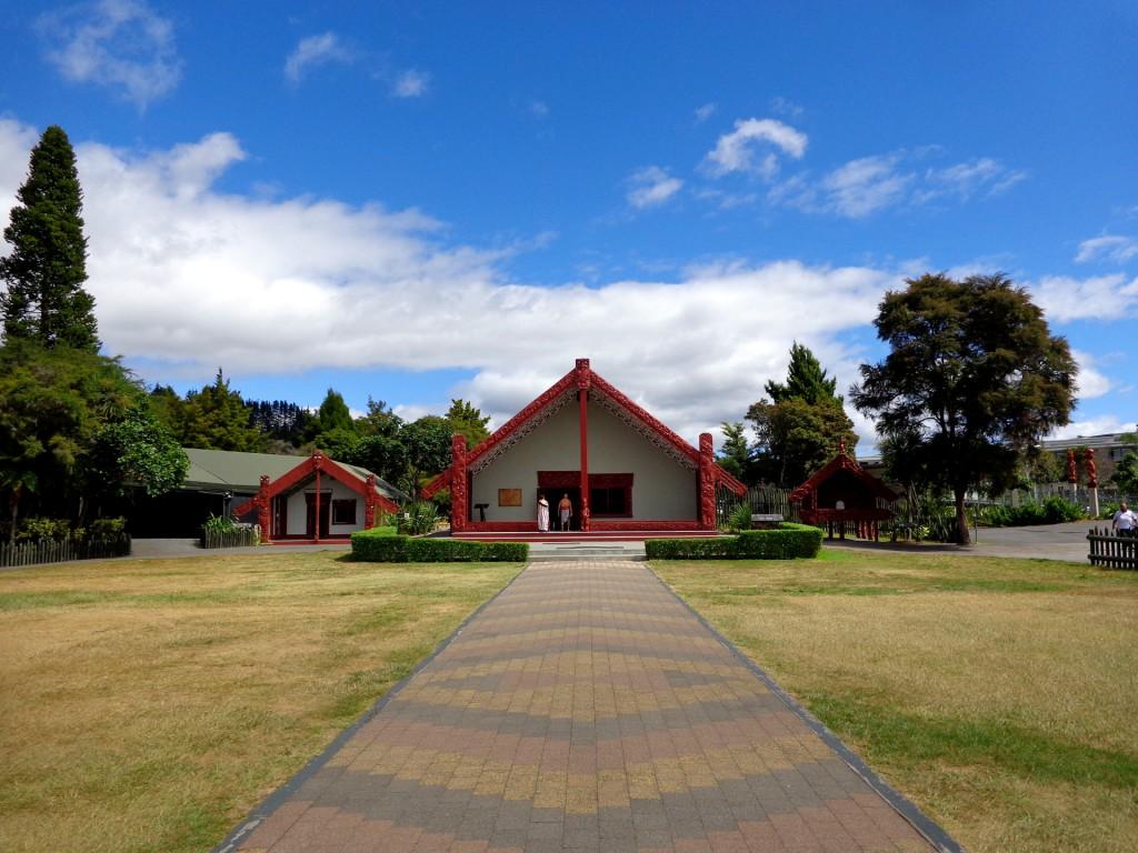 Нова Зеландия, град Роторуа, маорско селище