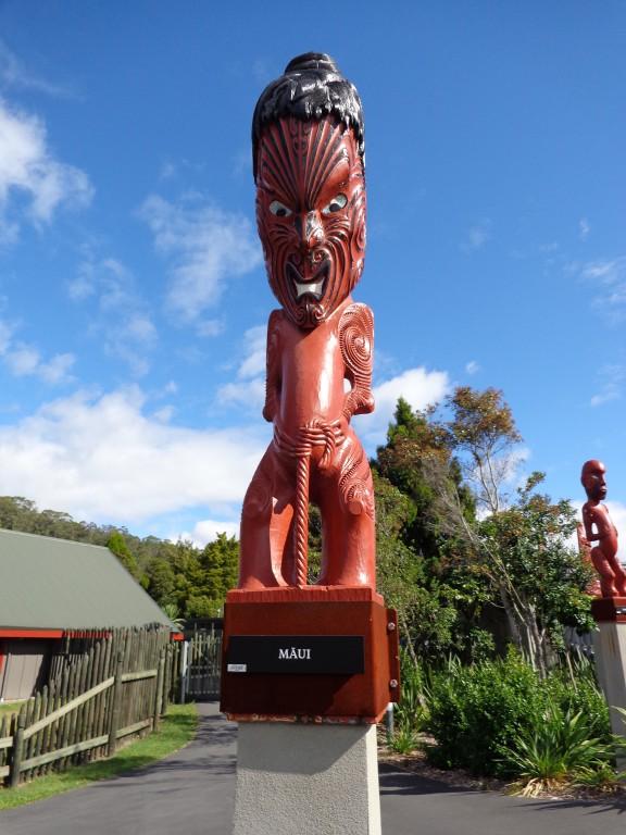 Нова Зеландия, град Роторуа, маорския полубог Мауи
