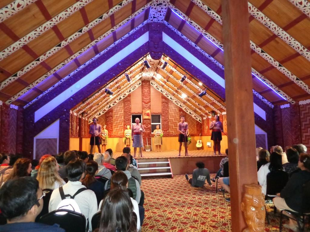Нова Зеландия, град Роторуа, представление на маори