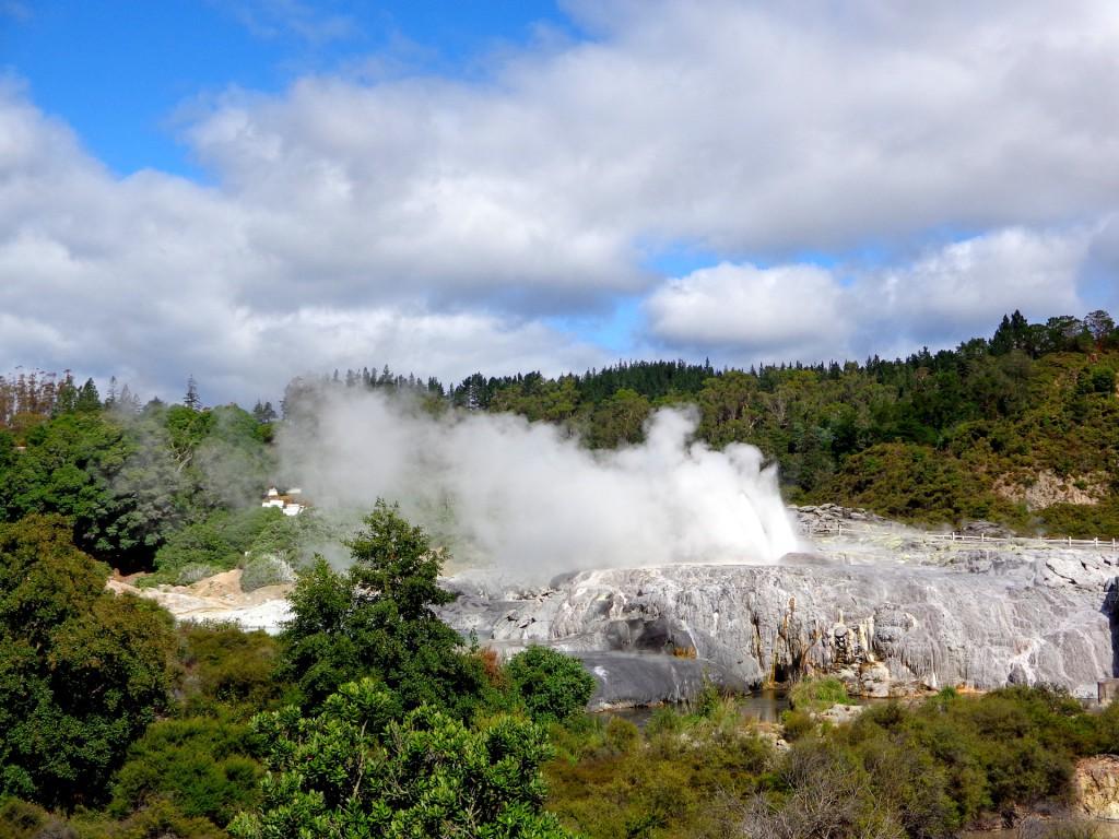 Нова Зеландия, град Роторуа, геотермална зона Те-пуя,