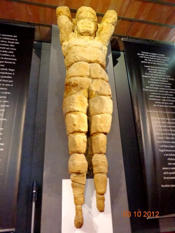 Агридженто, Археологически музей, атлас от Храма на Зевс Олимпийски