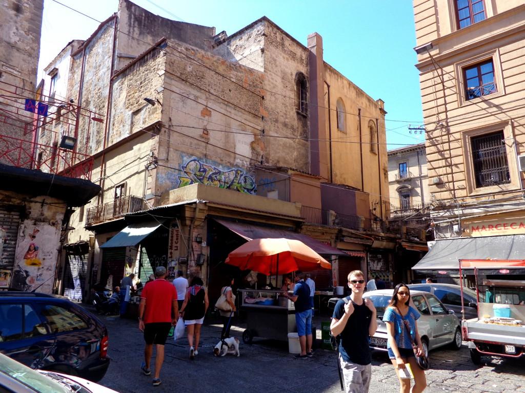 """Палермо, пазарът """"Вучирия"""""""