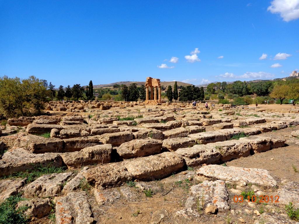 Агридженто, Долината на храмовете, храмът на Кастор и Полукс