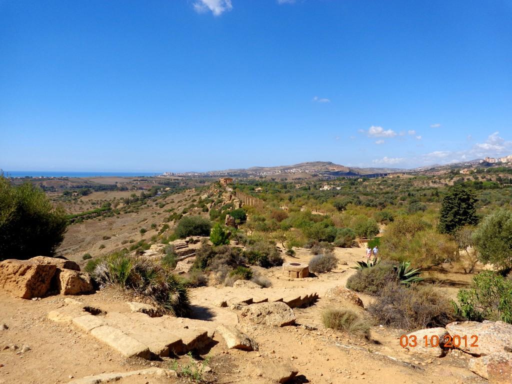 Агридженто, общ поглед към Долината на храмовете