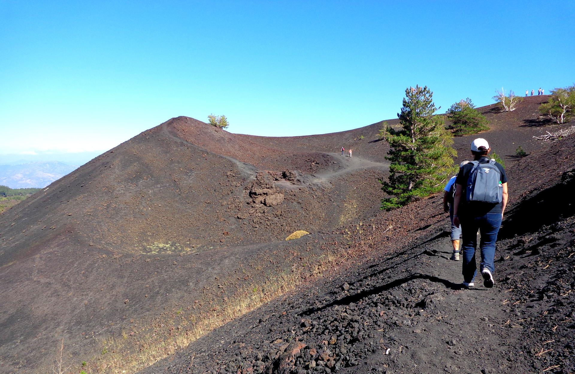 Етна, по кратерите Сарториус
