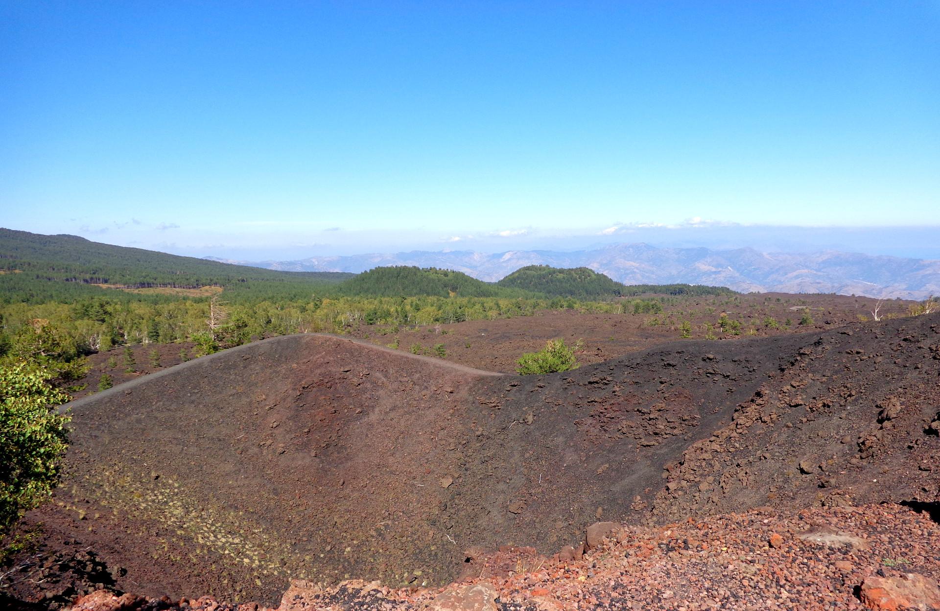 Етна, кратерите Сарториус от 1865 г.