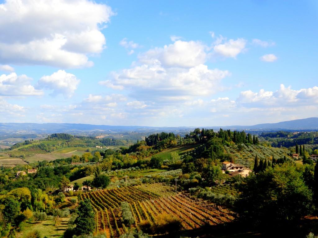 Тоскански пейзаж от Сан Джиминяно