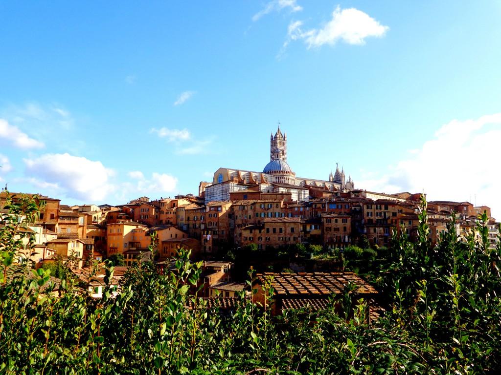 Сиена, поглед към катедралата