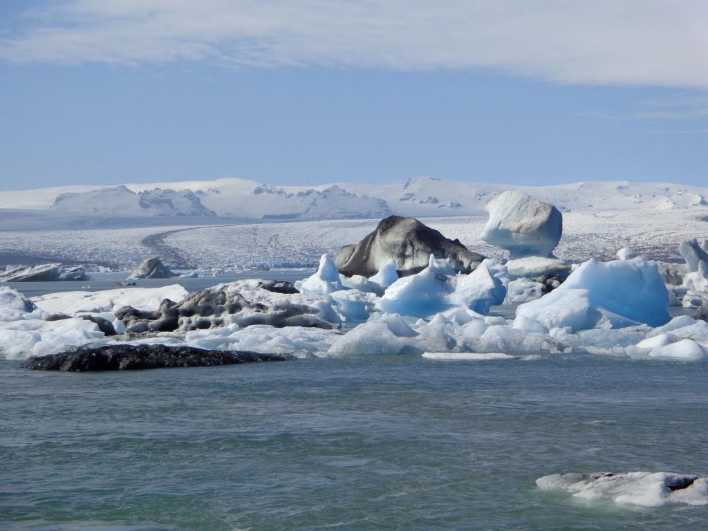 Ледниковото езеро и бъдещ фиорд - Йокулсарлон
