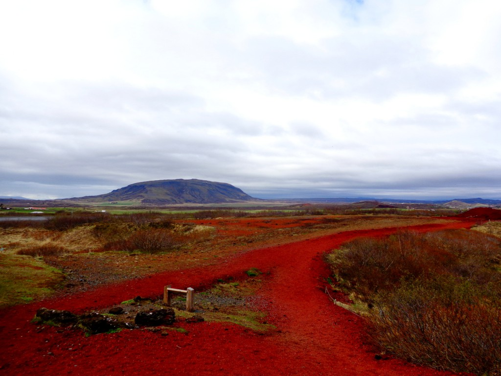 Южноисландски пейзаж край кратера Керид