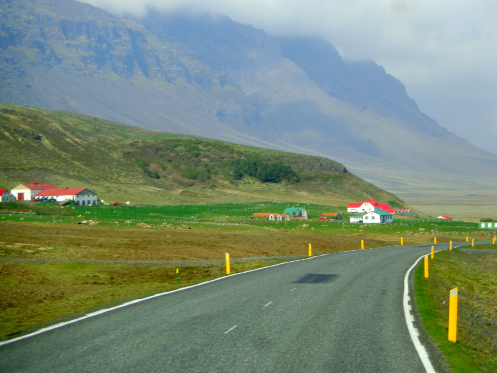 Път в Южна Исландия