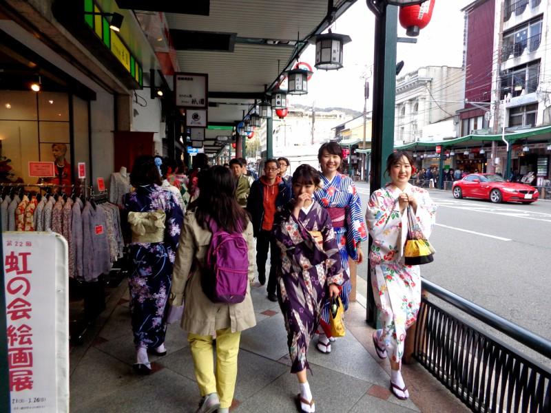 """Киото - по прочутата улица """"Шиджо-дори"""" (""""Четвърта улица"""") - 2"""