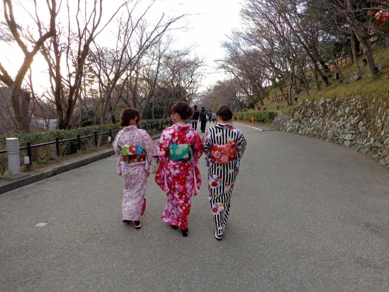 Киото, жени в кимоно