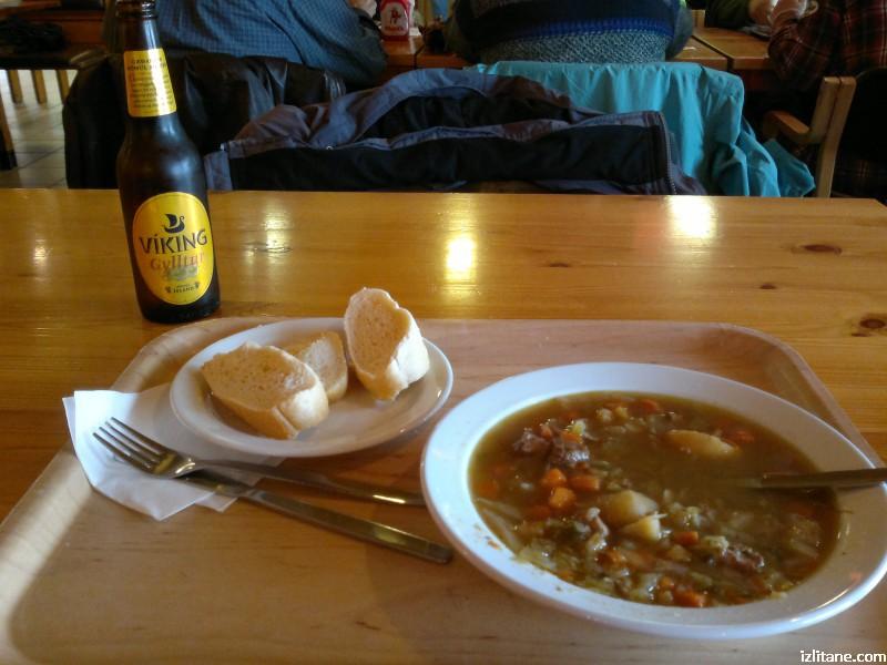 Исландия. Понякога си поръчваме супа за 28 лв., понякога - не. Бирата е отделно!