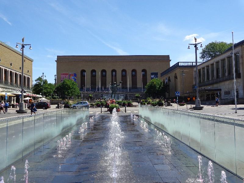"""Гьотеборг, """"Йотаплац"""" с Художествения музей, Градския театър, Библиотеката и Концертната зала"""